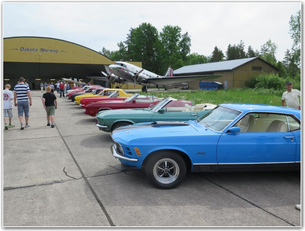 MUSKELBILER:  En flott samling av biler fra fjorårets møte. FOTO: Stig Rune Håvardstun
