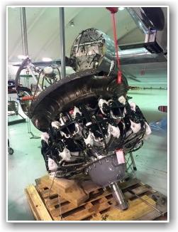 KLAR TIL MONTERING: Motoren nærmer seg klar til montering på flyet. FOTO: Stig Rune Håvardstun