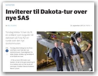 FAKSILILE: Tatt fra sb.no fra intervjuet i hangaren vår.