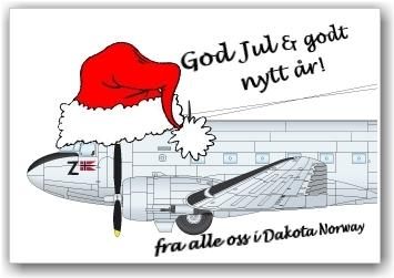 FREDLIG JUL: Ønskes fra alle oss i Dakota Norway. ILLUSTRASJON: Lars Gagnum