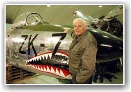 AVSKJÆRING: I denne F-86K måtte Thore Virik avskjære en topphemmlig Amerikansk U2